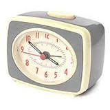 Kikkerland Classic Alarm Clock Grey