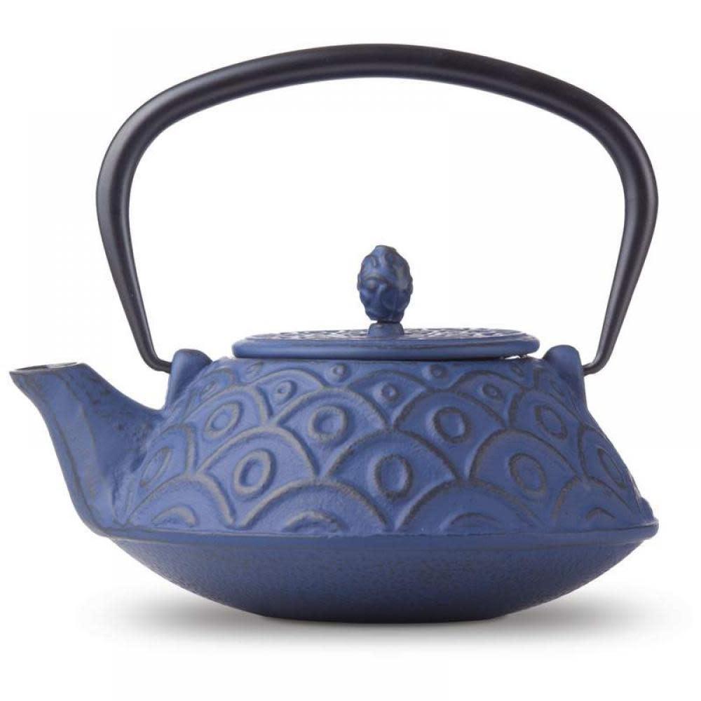 B & F Systems Inc. Tea Pot Cast Iron Blue 3.75 Cup
