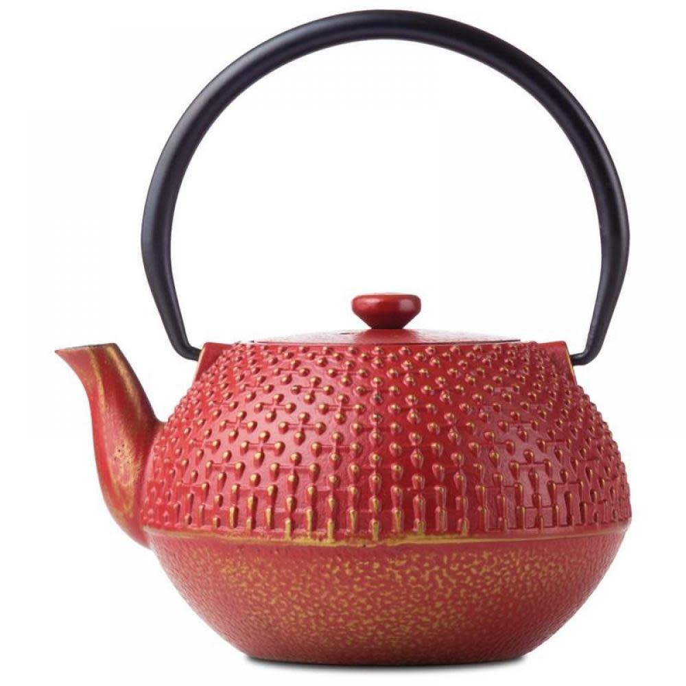 B & F Systems Inc. Tea Pot Cast Iron Red 4 Cup