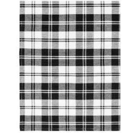 Primitive Artisan Cloth Napkin - Flatweave Napkins 22in x 22in, French Country Black