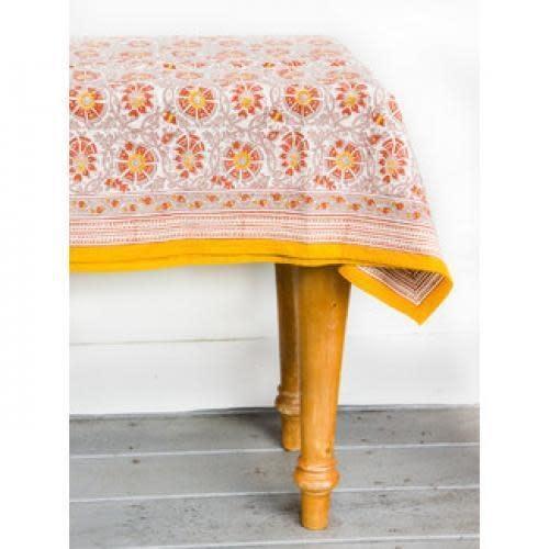 "CLM Style Chloe Saffron Tablecloth 70"" Round"