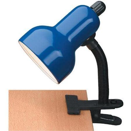 Lite Source Desk Lamp Clip On In Blue