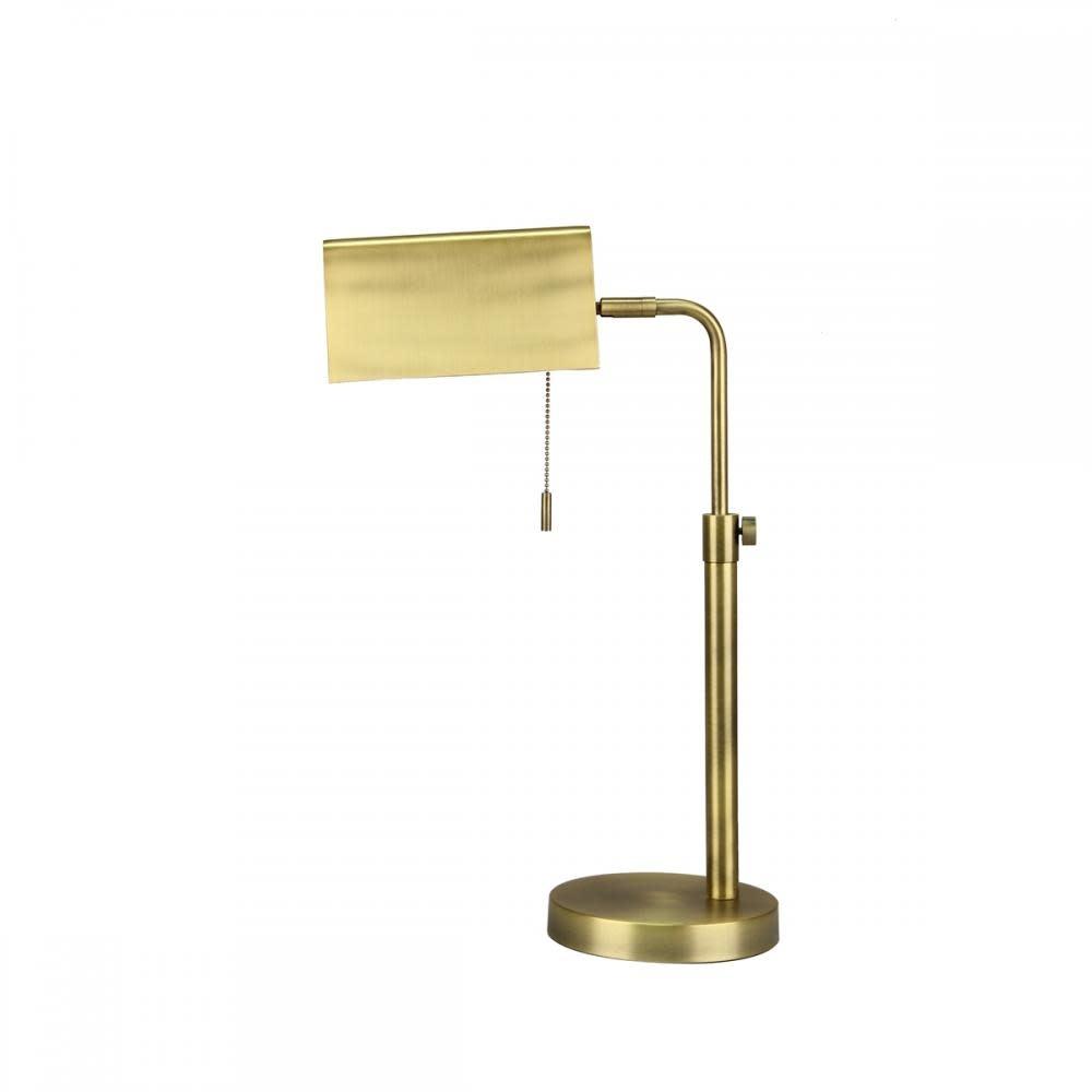 Sagebrook Home Desk Lamp - Metal Rectangle Gold 21in