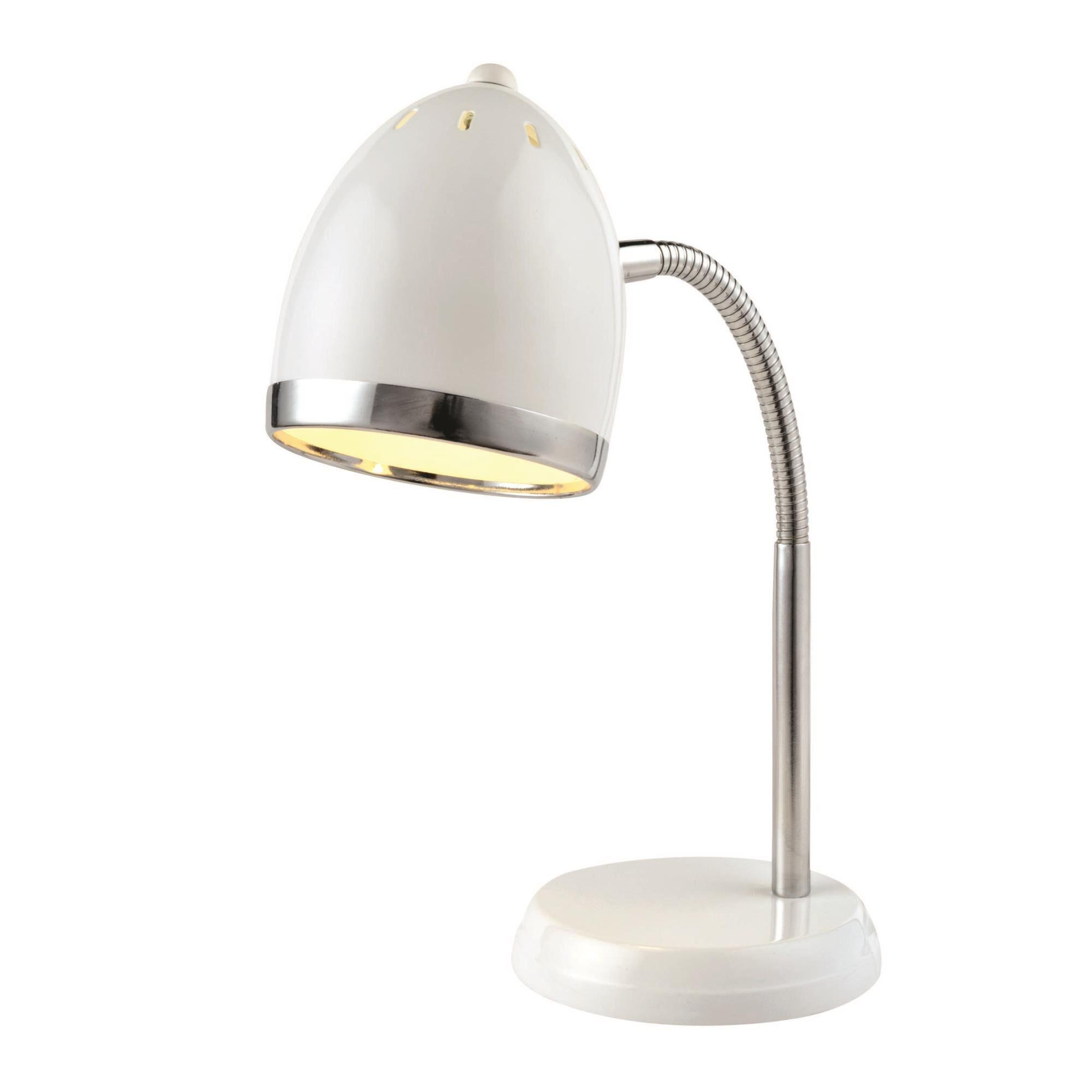 Lite Source Desk Lamp Gooseneck Zachary White