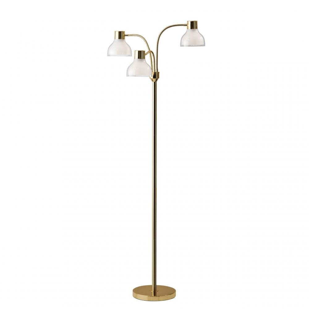 Adesso Home Presley 3 Arm Floor Lamp Polished Gold
