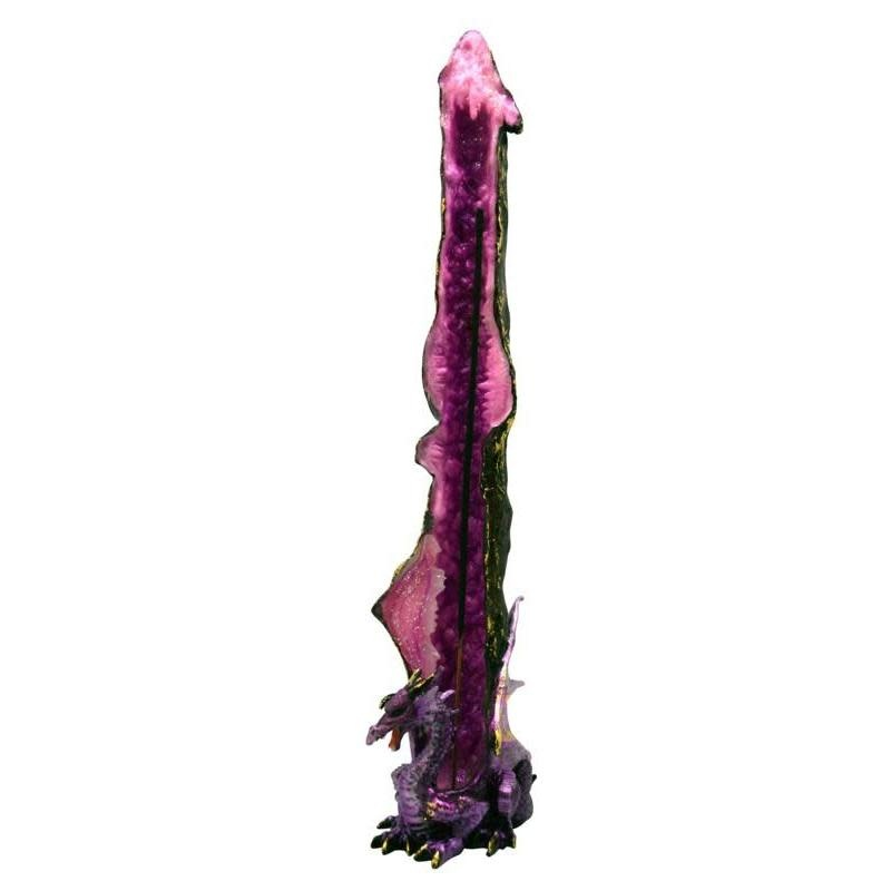 Fantasy Gifts Standing Purple Dragon Incense Burner
