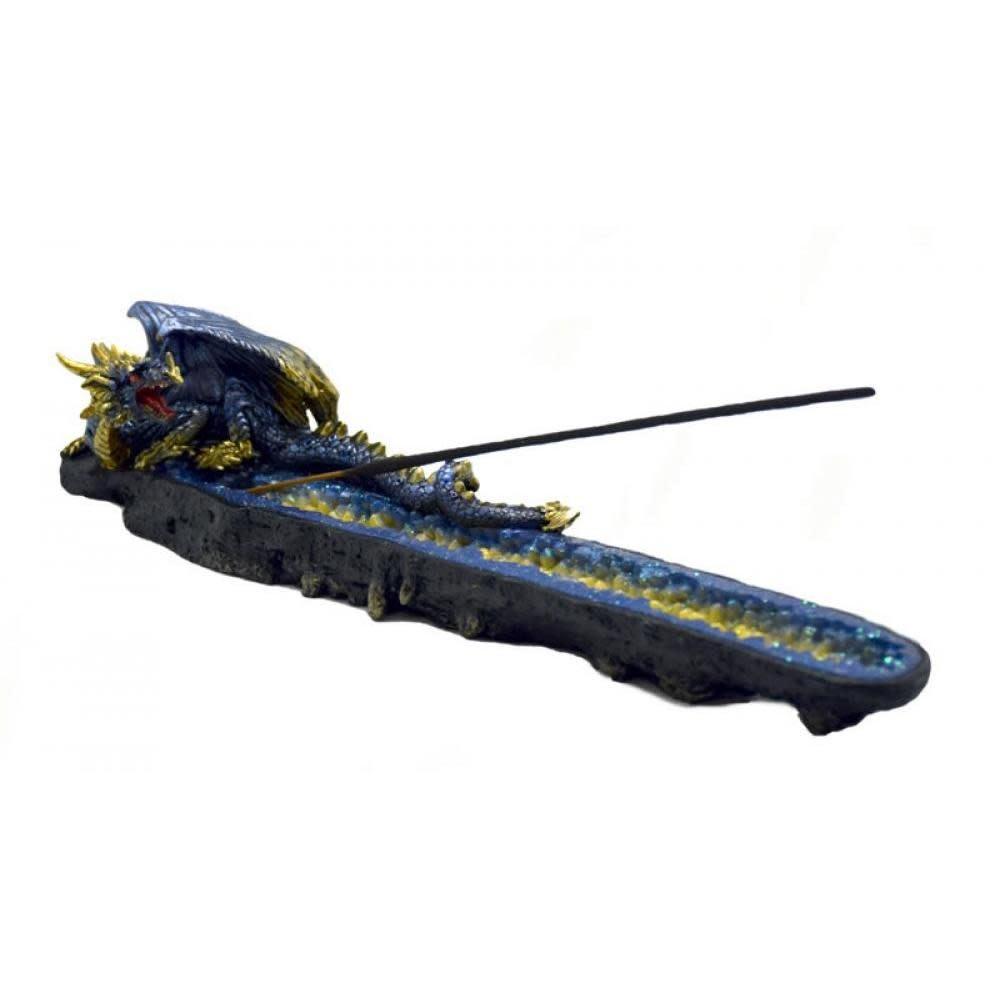 Fantasy Gifts Incense Burner Blue Dragon