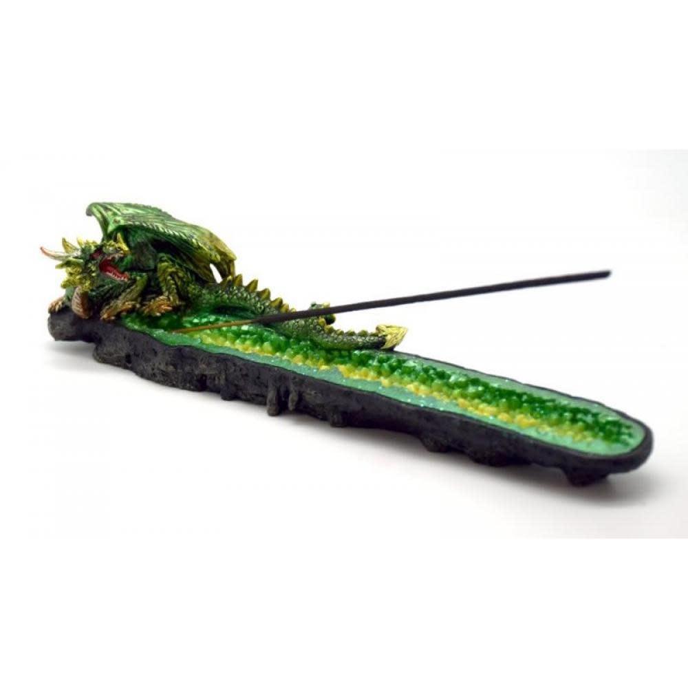 Fantasy Gifts Incense Burner Green Dragon