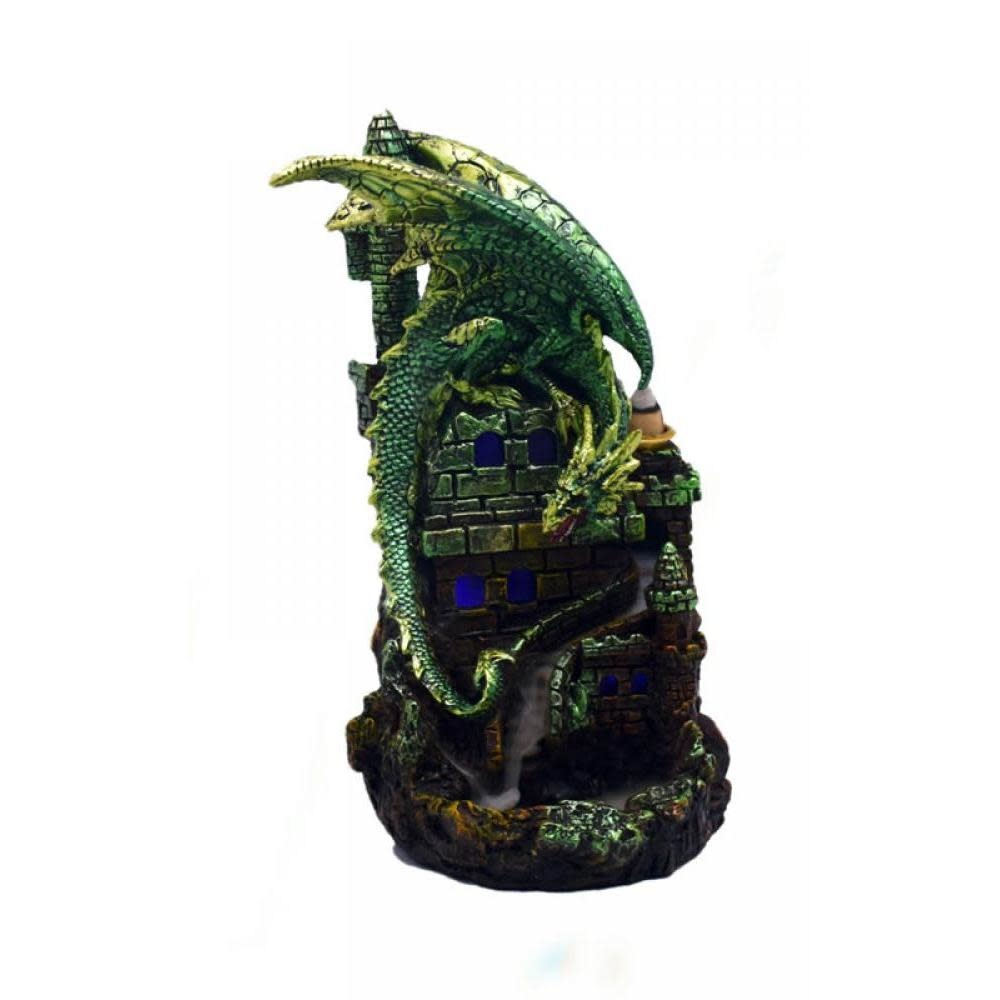 Fantasy Gifts Backflow Incense Burner Green Dragon