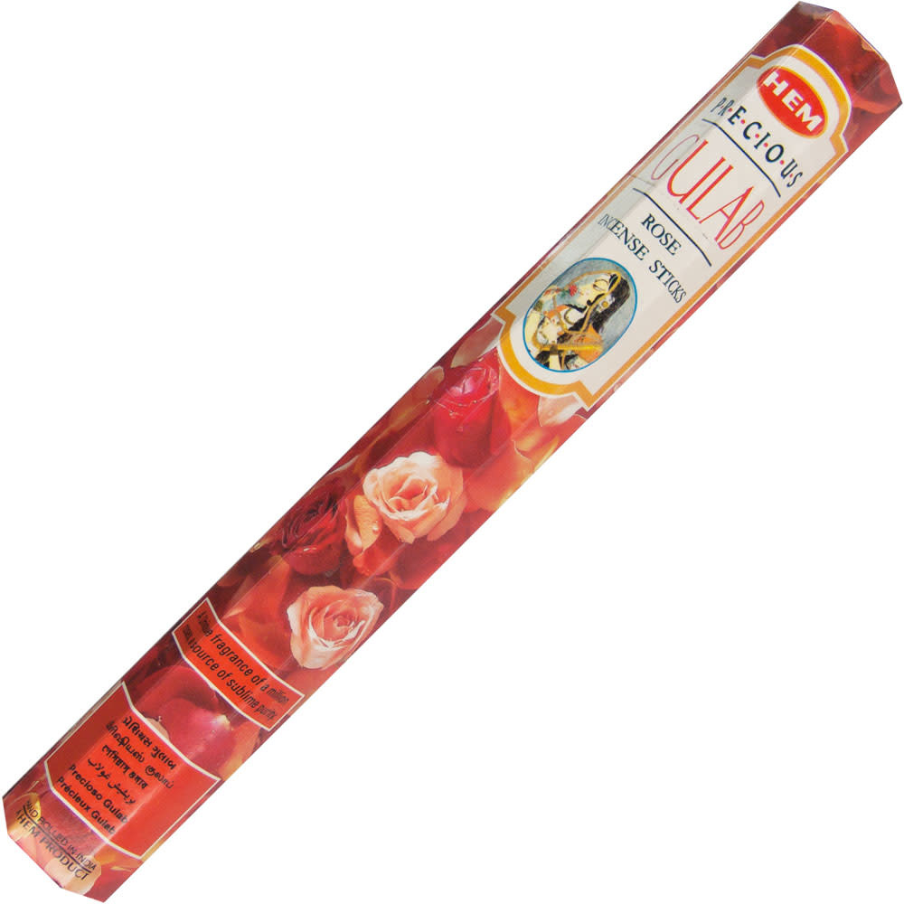 Kheops International Hem Hexagon Box Incense 20g Rose - Pack of 6