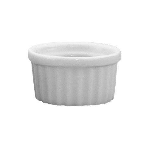 Harold Imports Co. Bakeware Ceramic White Round Ribbed Souffle 2in 1oz