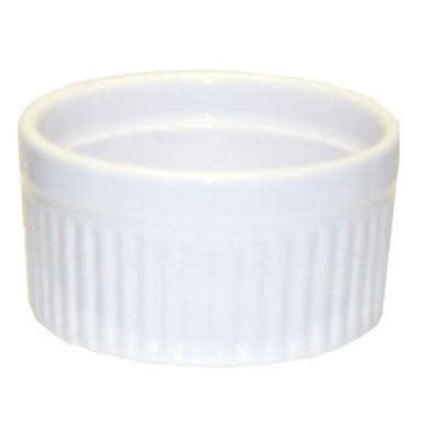 Harold Imports Co. Bakeware Ceramic White Round Ribbed Souffle 3.5 6oz