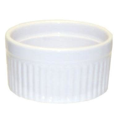 Harold Imports Co. Baking Dish - Ceramic White Round Ribbed Souffle 3.5 6oz