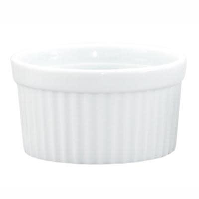 Harold Imports Co. Baking Dish - Ceramic White Round Ribbed Souffle 4in 10oz