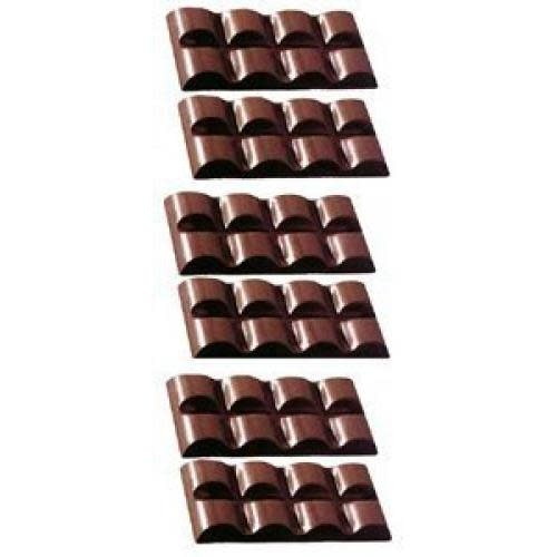 Fat Daddio's Candy Mold Polycarbonate Rounded Squares Candybar 6-pocket