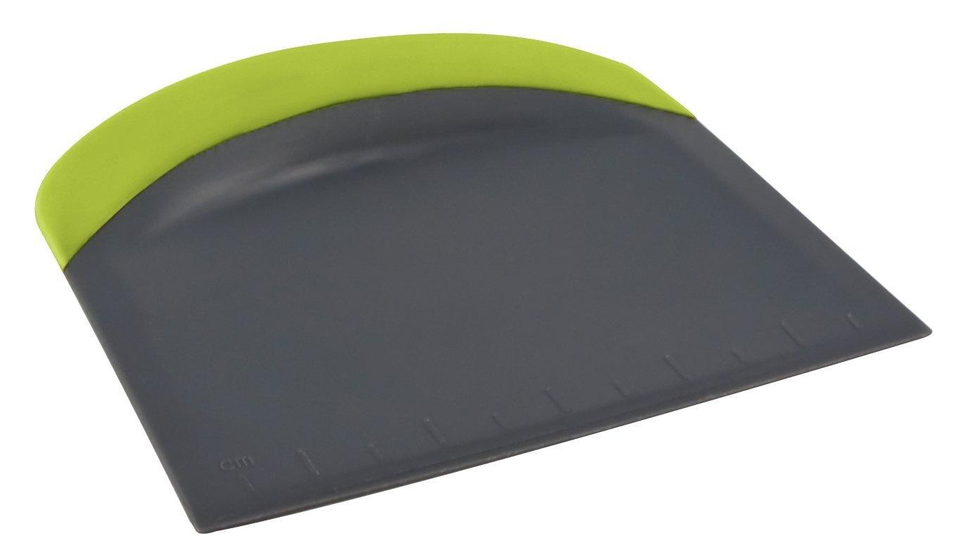 Fox Run Brands Bench Scraper Dough Cutter Silicone 3-in-1 Single