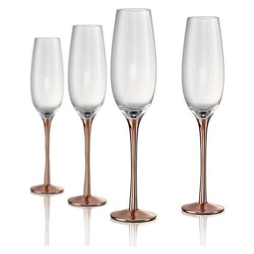 Artland Drinkware Glass Coppertino Wine 8oz Champagne Flute