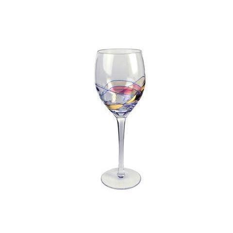 Artland Drinkware Glass Helios Stained-Glass Wine 10oz