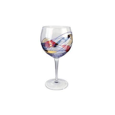 Artland Drinkware Glass Helios Stained-Glass Wine Balloon 18oz