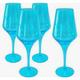 Artland Luster goblet turquoise 16oz