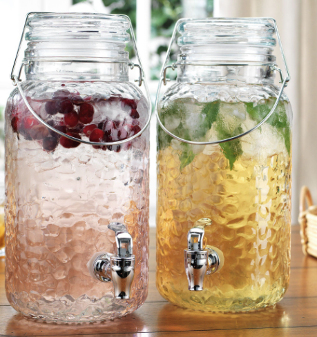 Home Essentials & Beyond Drink Dispenser - Hammered Twin Bail & Trigger 1gal