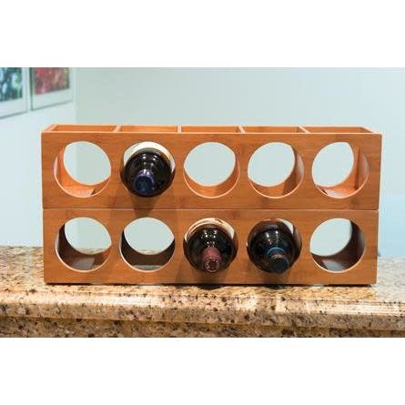 Lipper International Wine Bottle Rack Bamboo 5 Bottle