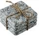 Home Essentials & Beyond Coasters - Grey Granite Square, Set of 4