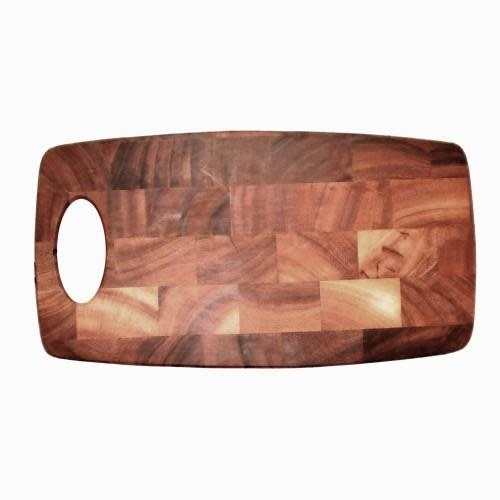 Fox Run Brands Cutting Board Wooden End Grain Rectangle Bowed 8x15in
