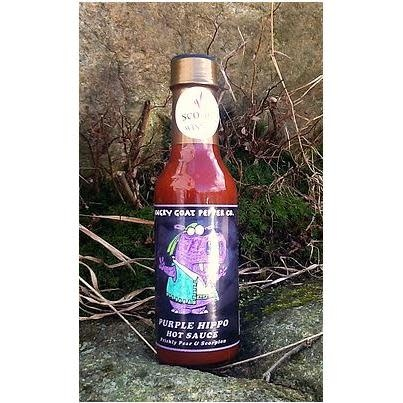 Angry Goat Pepper Barbecue Hot Sauce Purple Hippo