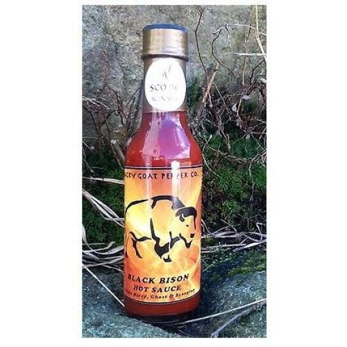 Angry Goat Pepper Barbecue Hot Sauce Black Bison