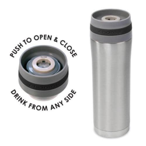 Chantal Travel Mug Vacuum Insulated 15oz Band-black