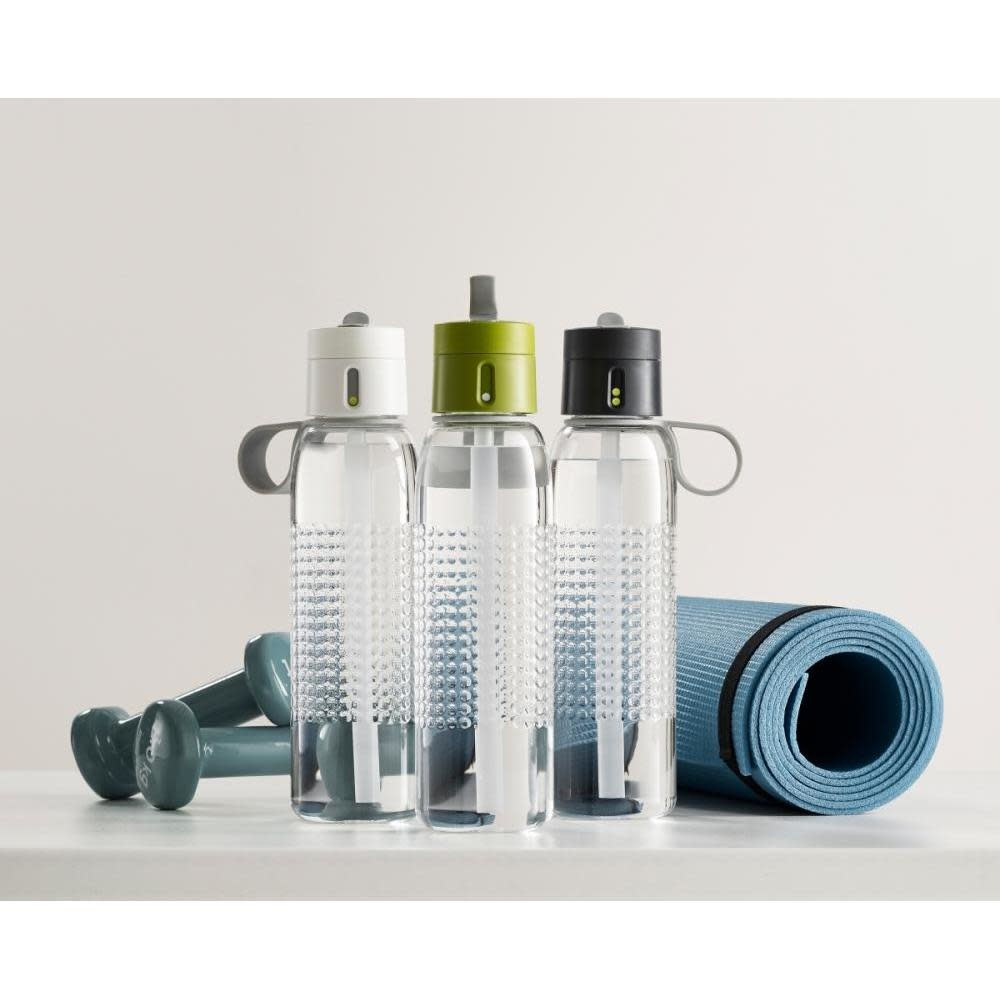 Joseph Joseph Dot Active 750ml Hydration Water Bottle With Counting Lid - White