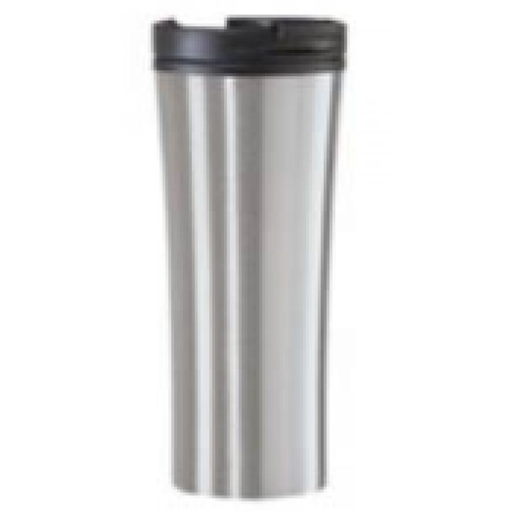 Oggi Travel Mug - Stainless Steel Contour 16oz - Silver