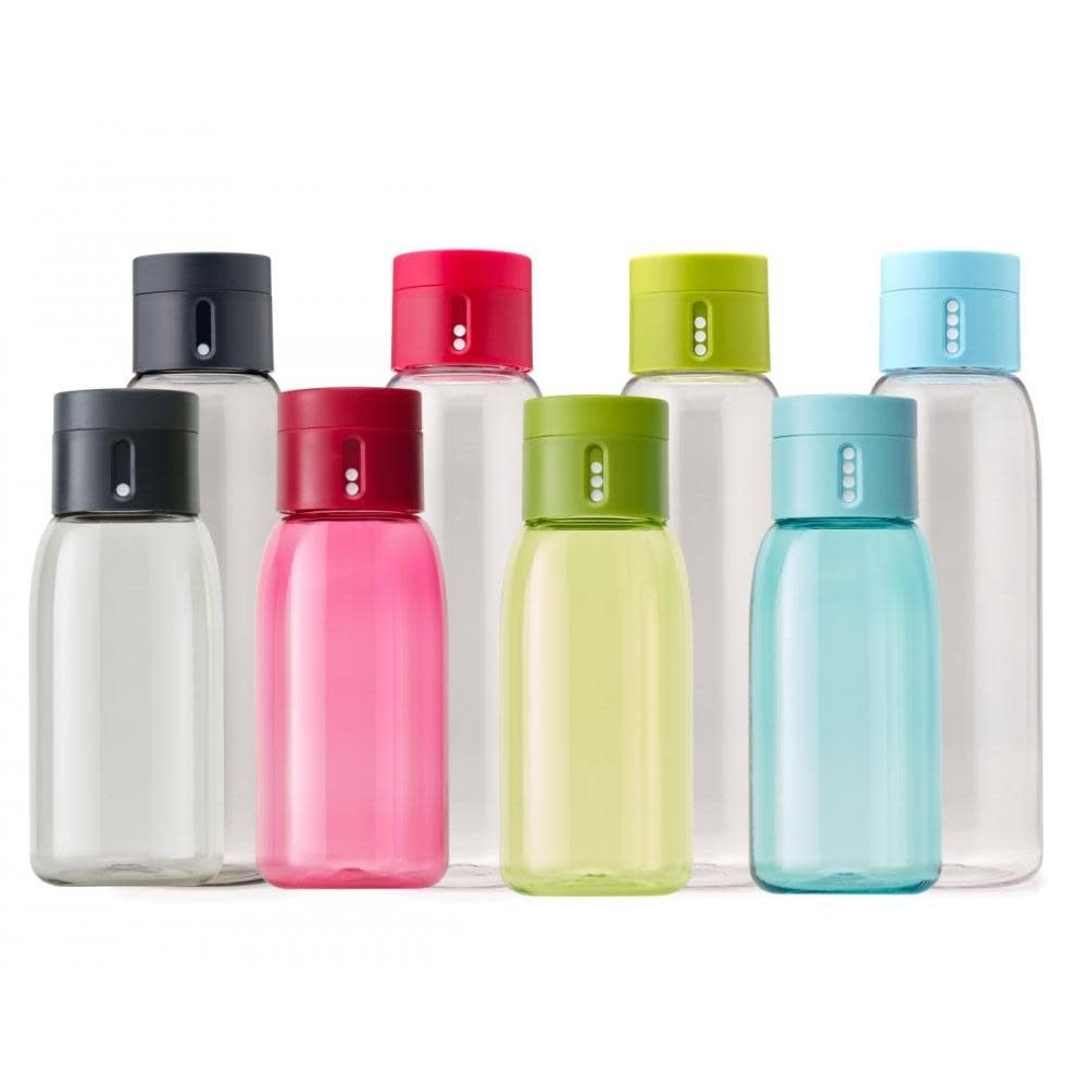 Joseph Joseph Dot 600ml Hydration Water Bottle With Counting Lid - Grey