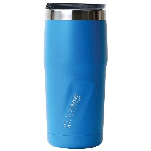 EcoVessel Travel Mug Insulated Stainless Steel Metro Blue 16oz