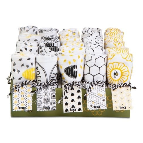 Tag Dish Towel - Bee Assorted 25 CDU