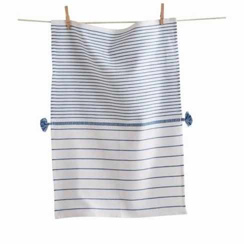 Tag Dish Towel - Beach Stripe Blue