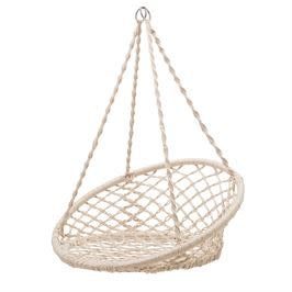 Bloomingville Outdoor Furniture - Hand-Woven Cotton Macrame Hanging Chair