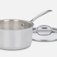 Cuisinart Cookware Chefs Classic Stainless Saucepan With Lid 3.0qt