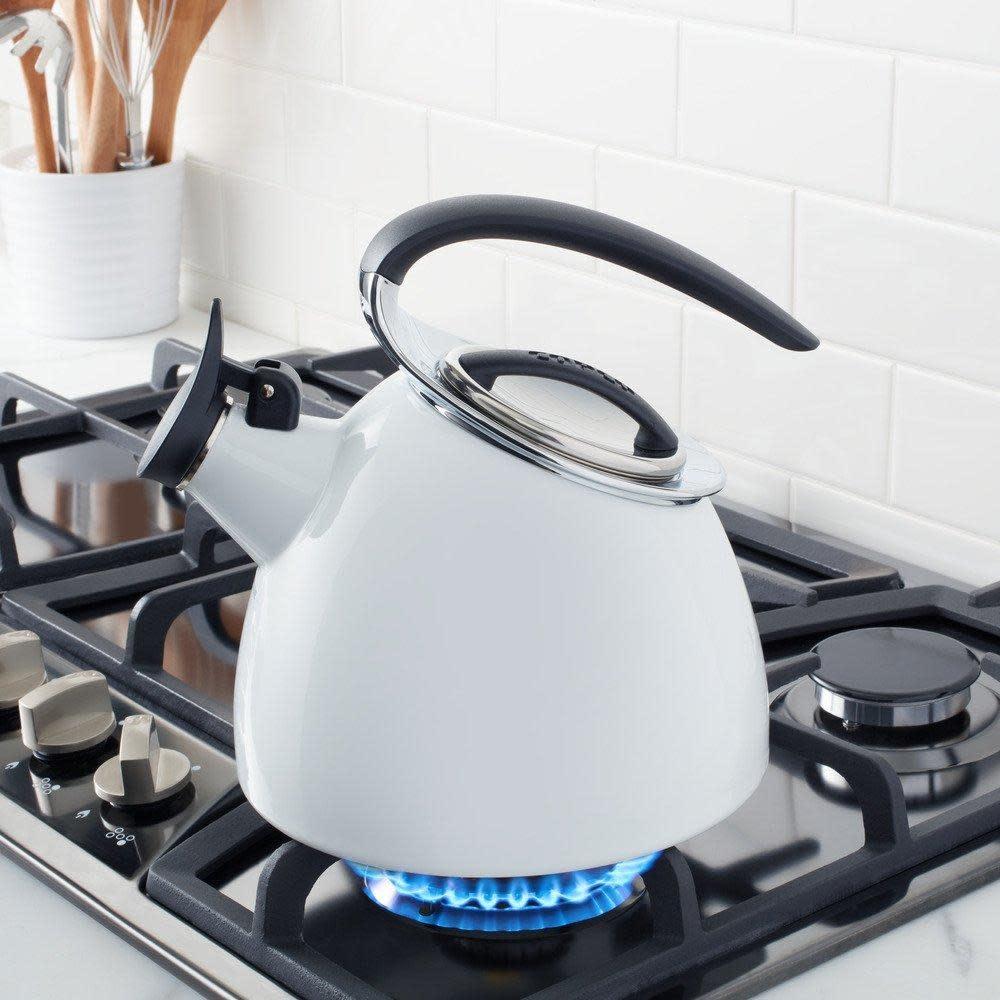 Copco Stovetop Kettle - Copco Tea Water Kettle 2.5qt, Enamel on Steel White