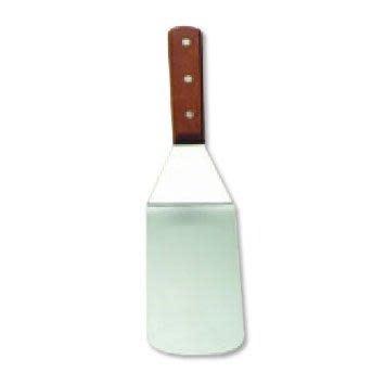 Table Craft Kitchen Utensil Wood-handle Turner Solid Round Edge