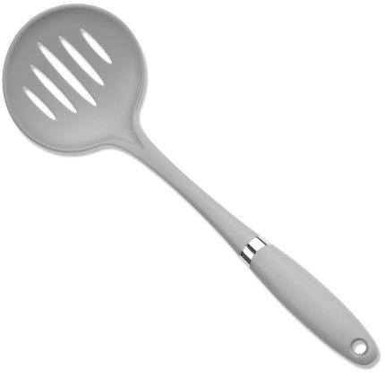 Culinary Edge Kitchen Utensil Nylon Colors-gray Skimmer Slotted Ladle