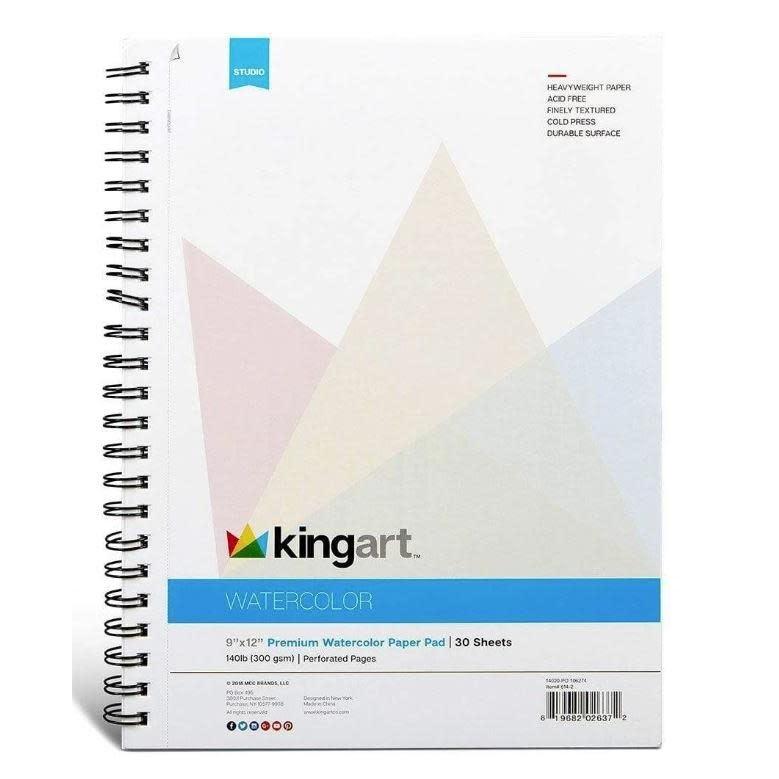 Kingart Paper Watercolor 9in x 12in 30 Sheets