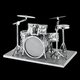 Fascinations Toys & Gifts Metal Model Kit Drum Set