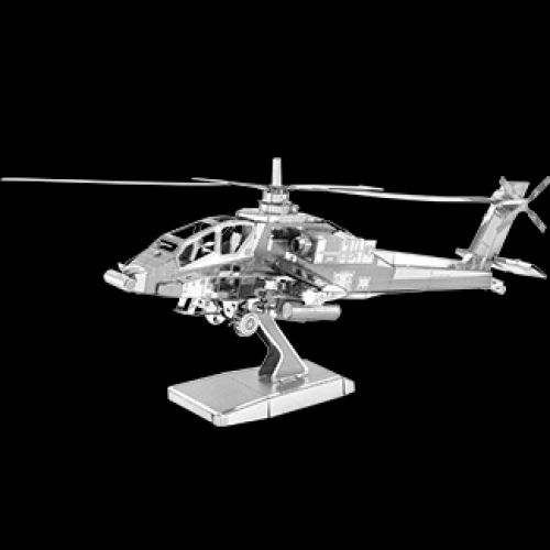 Fascinations Toys & Gifts Metal Model Kit Ah-64 Apache Boeing Helicopter
