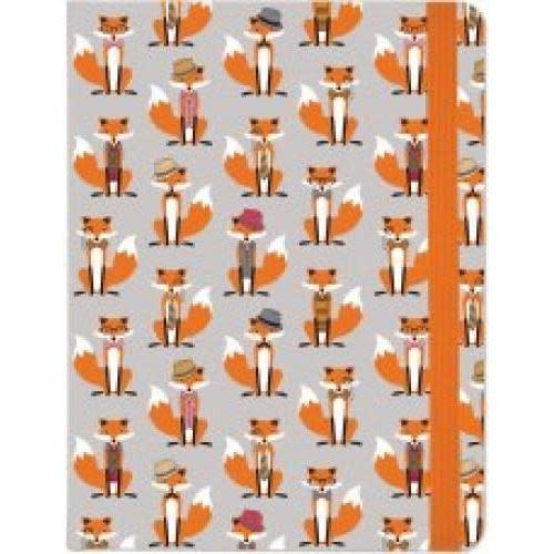 Peter Pauper Journal -  Midsize Dapper Foxes