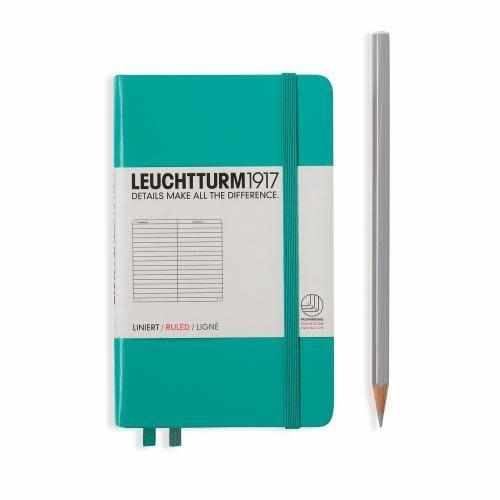 Leuchtturm 1917 Notebook - Pocket - Emerald - Ruled