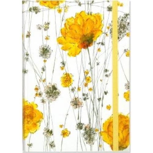 Peter Pauper Journal -  Small Format Yellow Flowers White Background