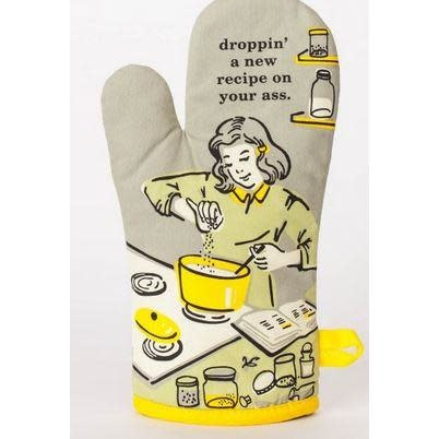 Blue Q Oven Mitt - Droppin' A New Recipe On Your A**