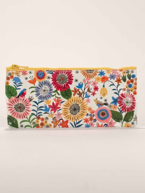 Blue Q Pencil Case - Flower Field